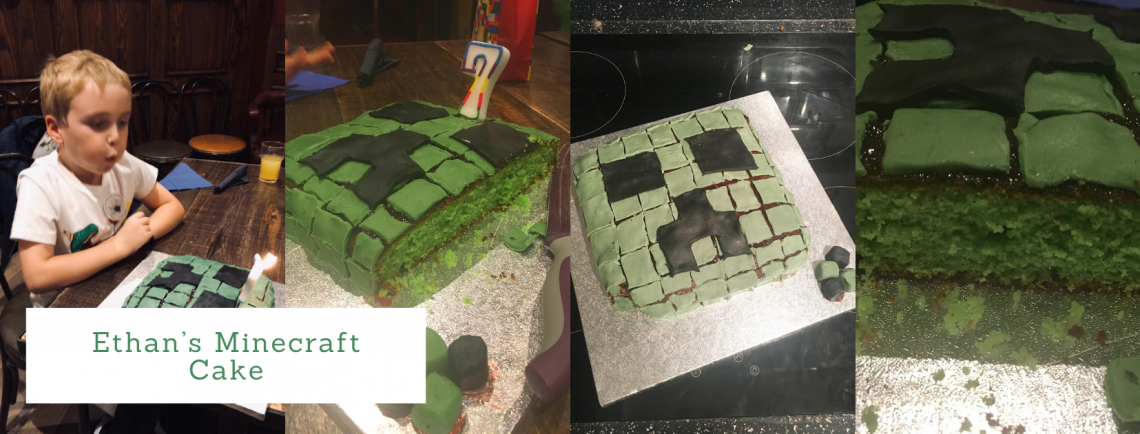 Fine Making Ethans Minecraft Birthday Cake Diary Of Dittrich Personalised Birthday Cards Sponlily Jamesorg